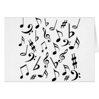 Carte de note de musique
