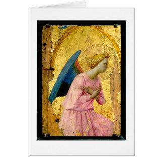 Carte de note de Noël d'ange d'ATF Angelico