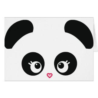Carte de note de Panda® d'amour
