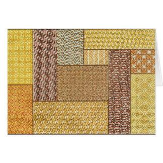 Carte de note de patchwork de désert