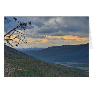 Carte de note de paysage de Mountian