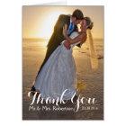 Carte de note de photo de Merci de mariage
