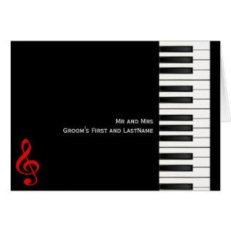 Carte de note de piano, M. et MrsGroom premier et