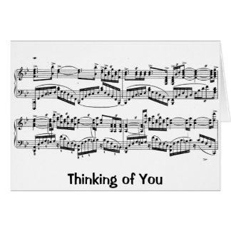 Carte de note de Rachmaninoff