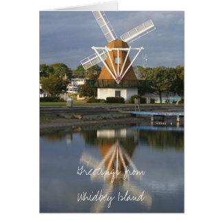 Carte de note de réflexion de moulin à vent WM2014