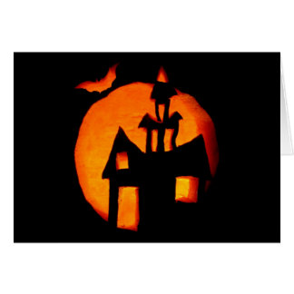 Carte de note de salutation de Halloween 1
