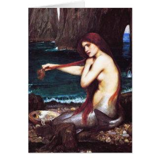 Carte de note de sirène de John William Waterhouse