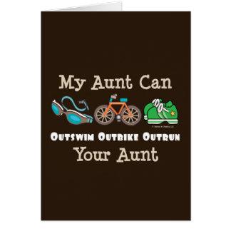 Carte de note de tante Outswim Outbike Outrun