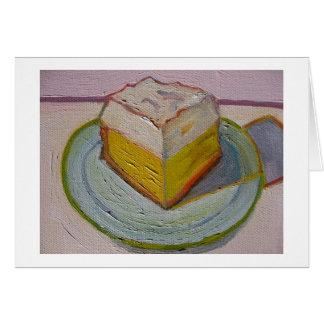 Carte de note de tarte de citron