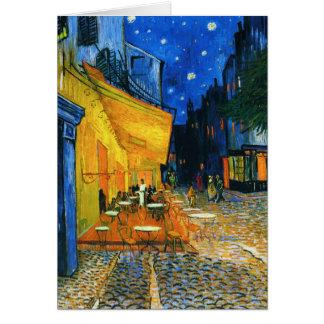 Carte de note de terrasse de Van Gogh Café