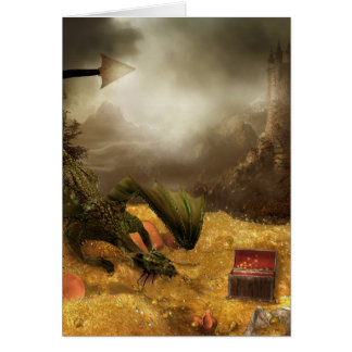 Carte de note de trésor de dragon