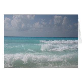 Carte de note de vague de Cancun