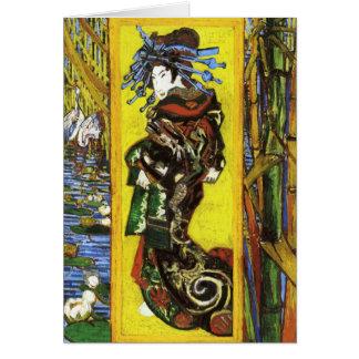 Carte de note de Van Gogh Japonaiserie Oiran
