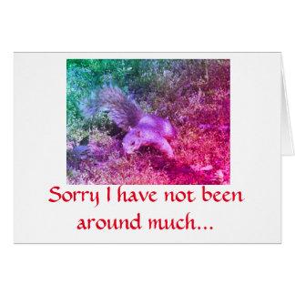 Carte de note d'écureuil