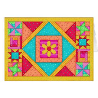 Carte de note d'édredon de patchwork/carte de
