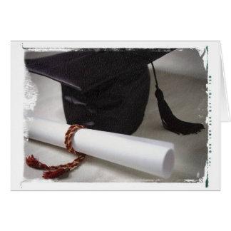 Carte de note d'obtention du diplôme