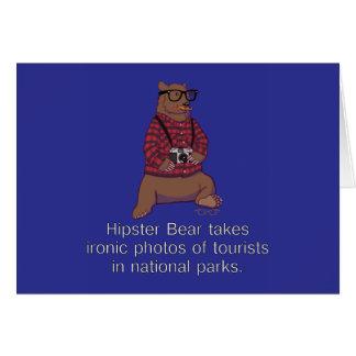 Carte de note d'ours de hippie