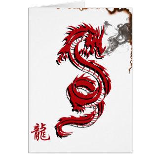 Carte de note du feu de dragon