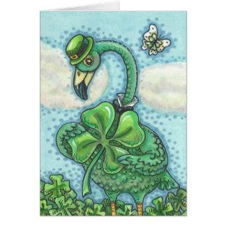 CARTE de NOTE du JOUR de ST PATRICK vert irlandais