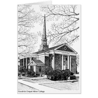 Carte de note d'université d'Albion de chapelle de