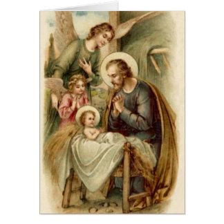 Carte de note (écriture sainte) : Nativité de St