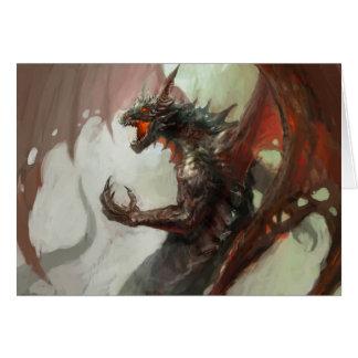 Carte de note foncée gothique de dragon