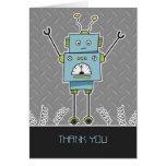Carte de note heureuse de Merci de robot et de res