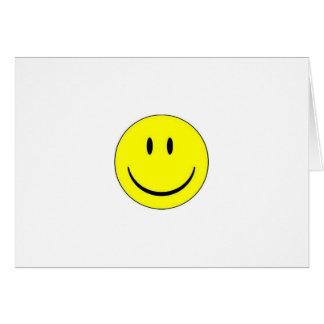 Carte de note heureuse de visage