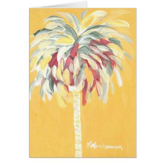 Carte de note jaune canari jaune de palmier