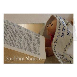 Carte de note juive de Shabbat Shalom de tallit