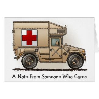 Carte de note militaire d'ambulance de Hummer