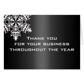 Carte de note noire et blanche de Merci d'affaires