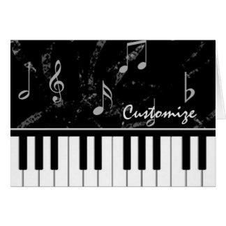 Carte de note noire et blanche de musique de piano