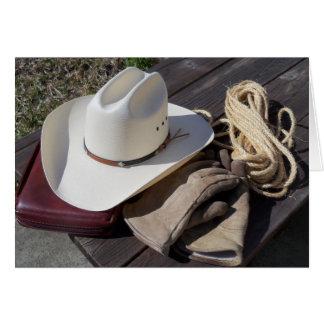 Carte de note occidentale de sud-ouest de cowboy