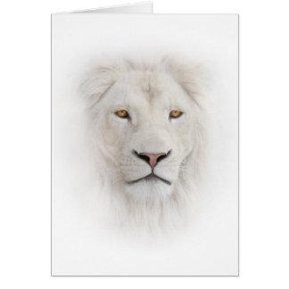 Carte de note principale blanche de lion