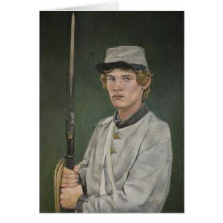 Carte de note rebelle d'art de portrait de guerre
