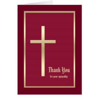Carte de note religieuse de Merci de sympathie,