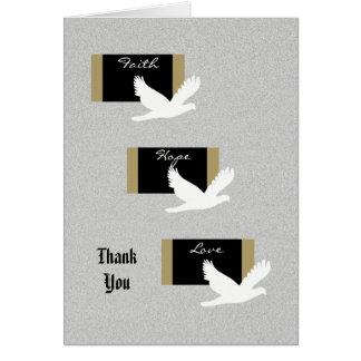 Carte de note religieuse de Merci de sympathie -