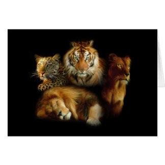 Carte de note sauvage de prédateurs