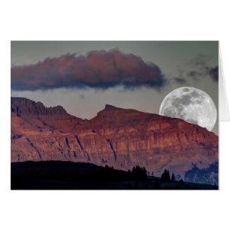 Carte de note superbe de lune