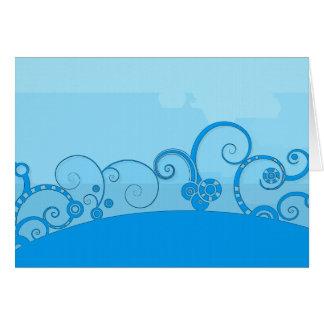 carte de note tourbillonnée bleue d'imaginaire