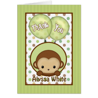 Carte de note verte de Merci du baby shower MPPv4
