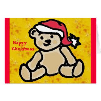 Carte de nounours de Noël