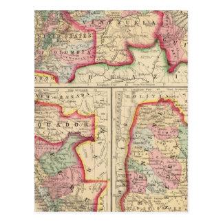 Carte de nouveau Grenade, Venezuela, Guyane par Mi Carte Postale