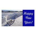 Carte de nouvelle année cartes de vœux avec photo