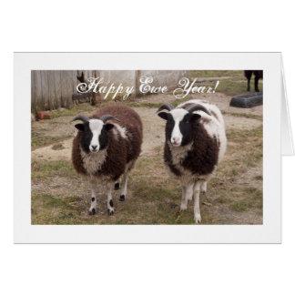 Carte de nouvelle année de moutons de Jacob