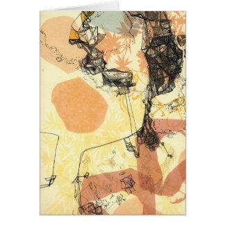 Carte de observation d'art abstrait de transitions