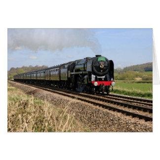 """Carte de """"Oliver Cromwell"""" de train de vapeur"""