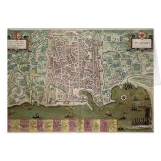 "Carte de Palerme, de ""Civitates Orbis Terrarum"""