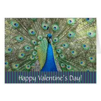 Carte de paon de Day_ de Valentine